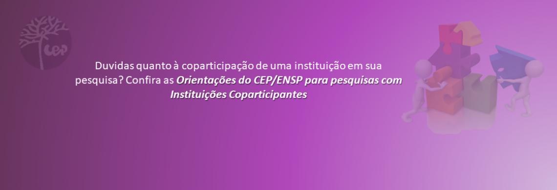 Orientações sobre instituição coparticipante
